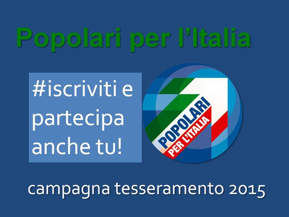 #Iscriviti a Popolari per l'Italia