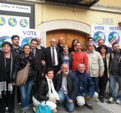 Comizio di chiusura Amministrative di Potenza con il Sen. Mario Mauro e il candidato Sindaco Dario De Luca