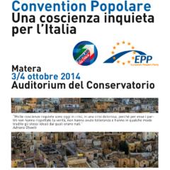 """Popolari, """"Una coscienza inquieta per l'Italia"""". Convention nazionale, Matera 3-4 ottobre"""