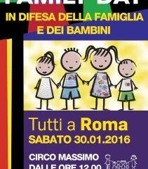 """FAMILY DAY/Mauro: noi sotto striscione """"si scrive Cirinnà, si legge Renzi-Alfano"""""""