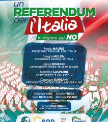REFERENDUM/Il 22 OTTOBRE A ROMA CONVENTION POPOLARI PER L'ITALIA