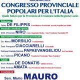 PPI Frosinone/Congresso Provinciale sabato 18 marzo