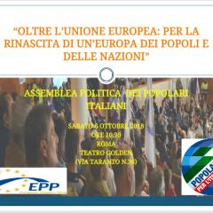 Assemblea politica  dei Popolari Italiani-SABATO 6 OTTOBRE 2018