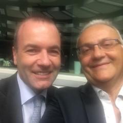 Mario Mauro all'Assemblea Politica del Partito Popolare Europeo a Bruxelles